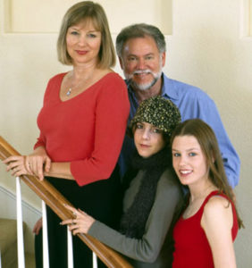 L to R: Liz Dowling (Warren's wife); Warren; and daughters, Erin and Alex.
