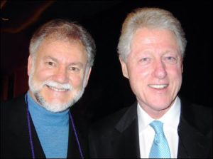 Warren Farrell with former president Bill Clinton.