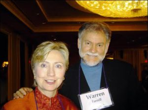 Warren Farrell with Hillary Clinton.
